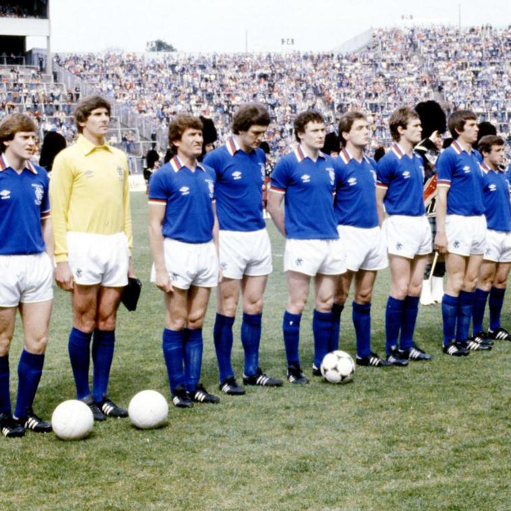 Rangers Glasgow 1980-81 Maglia Storica Calcio