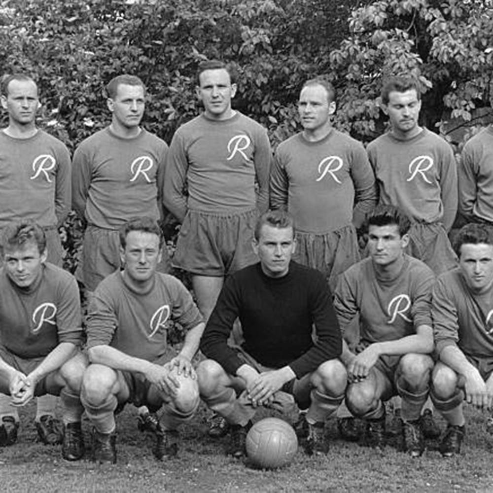Rapid Vienna 1956-57 Maglia Storica Calcio