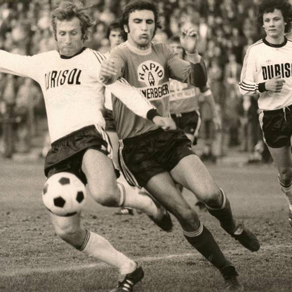 Rapid Vienna 1976-77 Maglia Storica Calcio