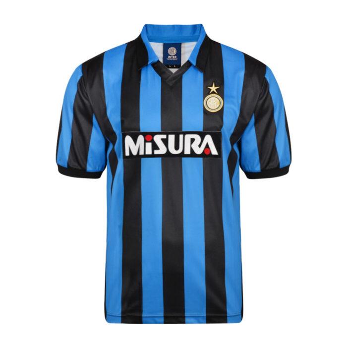 Inter 1990-91 Retro Football Shirt