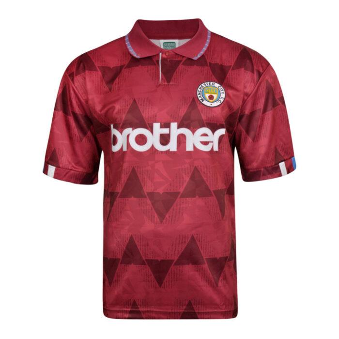 Manchester City 1989-90 Camiseta Fútbol Retro