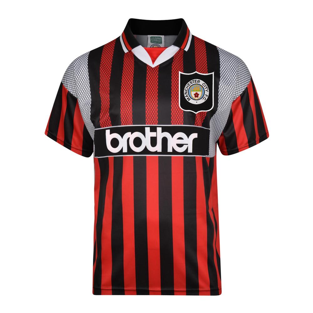 Manchester City 1994-95 Camiseta Fútbol Retro