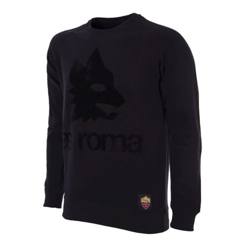 Roma Black Out Retro Logo Felpa Casual