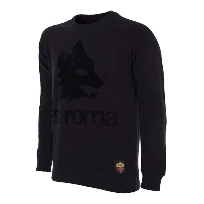 Roma Black Out Retro Logo Felpa Casual
