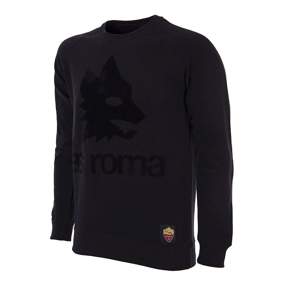 Rome Black Out Retro Logo Casual Sweater