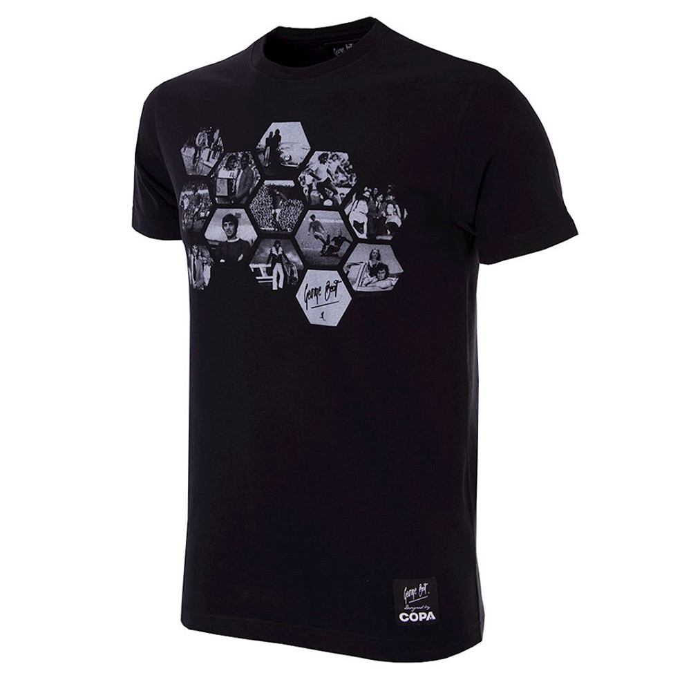 George Best Hexagon Tee Shirt Casual