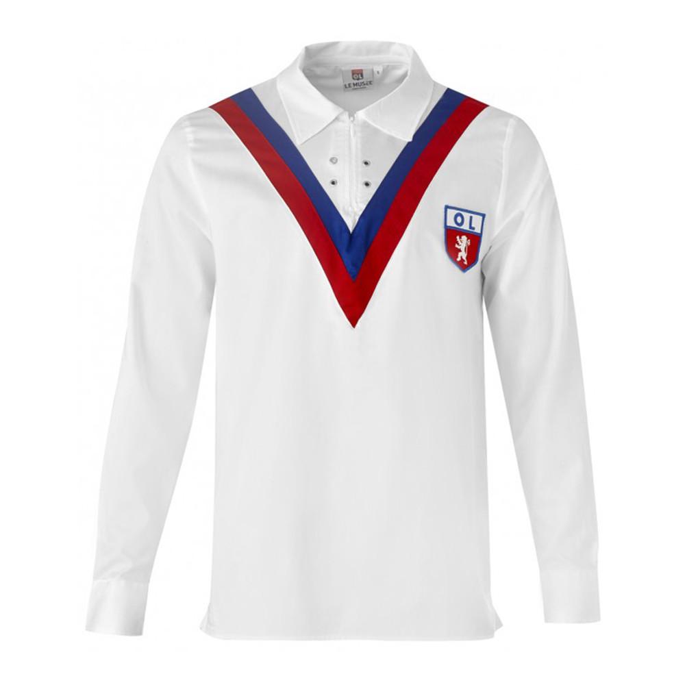 Olympique Lione 1956-57 Maglia Storica Calcio