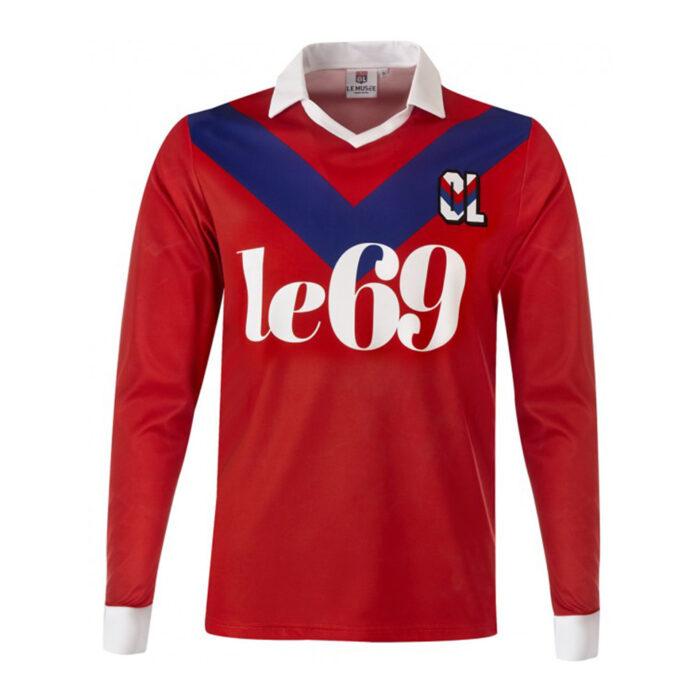 Olympique Lione 1989-90 Maglia Storica Calcio