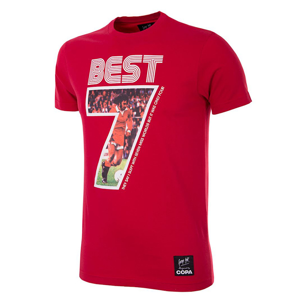 George Best Miss World Tee Shirt Casual Rouge