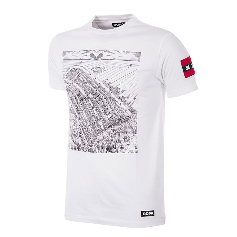 Copa Amsterdam City Map Tee Shirt Casual