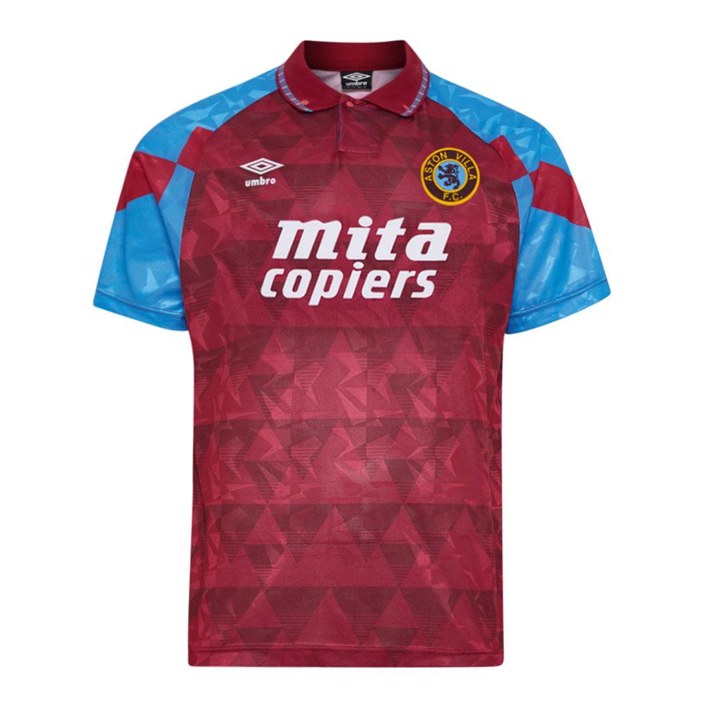 Aston Villa 1990-91 Retro Football Shirt