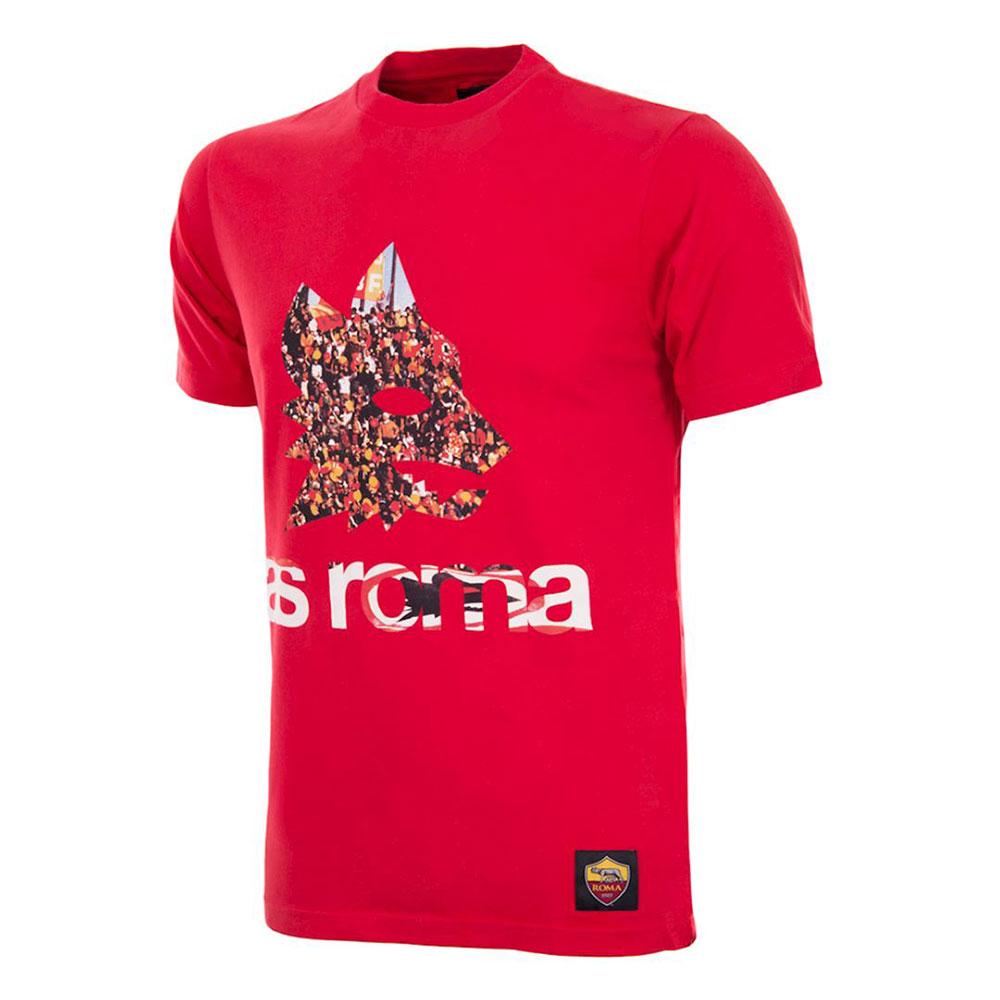 Roma Supporters Maglietta Casual Rossa